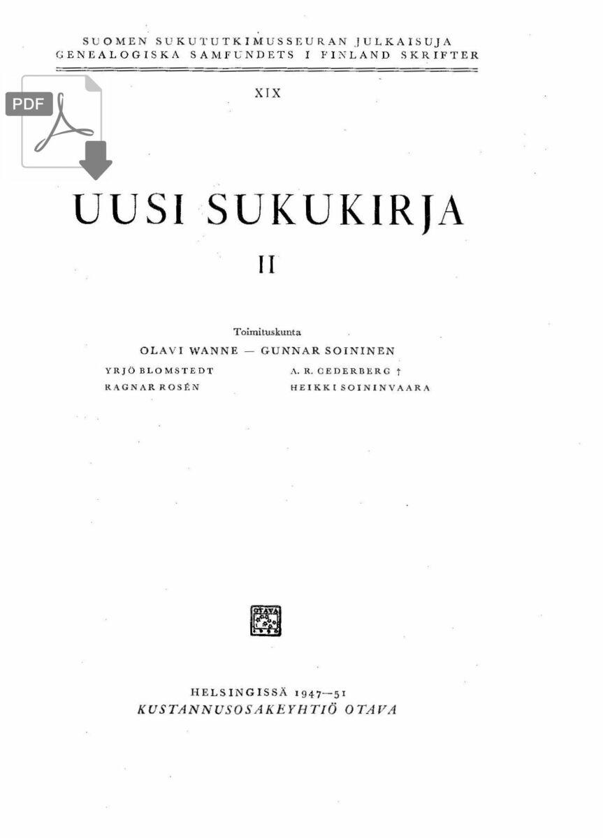 Poijärvi Suku