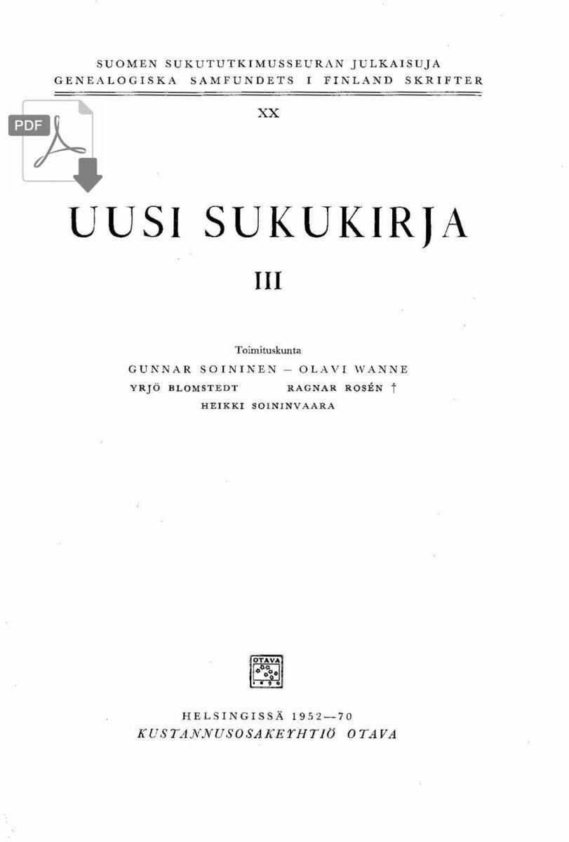 Brotherus Sukupuu